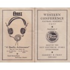 1922 Western Conference (Big 10) college football schedule