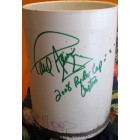 2008 Ryder Cup Valhalla hole 18 cup liner autographed by Paul Azinger