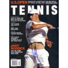 Andy Roddick autographed 2002 Tennis magazine cover