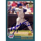 Bengie Molina autographed Anaheim Angels 2001 Topps card