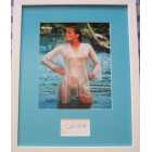Bo Derek autograph matted & framed with sexy 8x10 photo