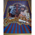 Cheech & Chong autographed vintage 23x35 poster framed