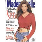 Cindy Crawford autographed 1994 Mademoiselle magazine cover