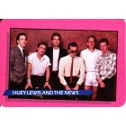 Huey Lewis and the News 1985 Rockstar Concert Card