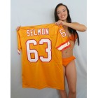 Lee Roy Selmon Tampa Bay Buccaneers orange authentic Logo Athletic stitched jersey