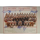 1980 Miracle on Ice USA Olympic Hockey Team autographed 11x15 photo (Neal Broten Mike Eruzione Ken Morrow)