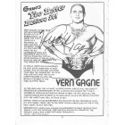 Verne Gagne autographed book page with portrait